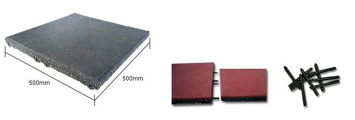 Thảm/Sàn cao su vuông có khớp nối